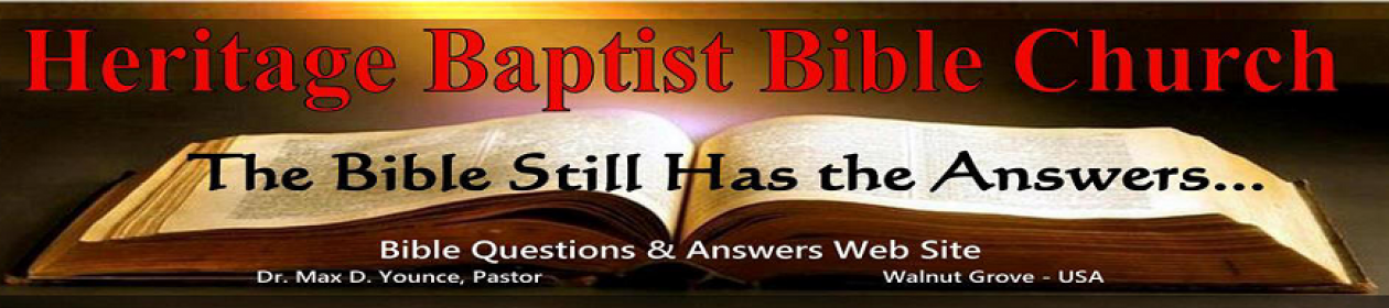 Bible Questions and Answers – A Church Ministry