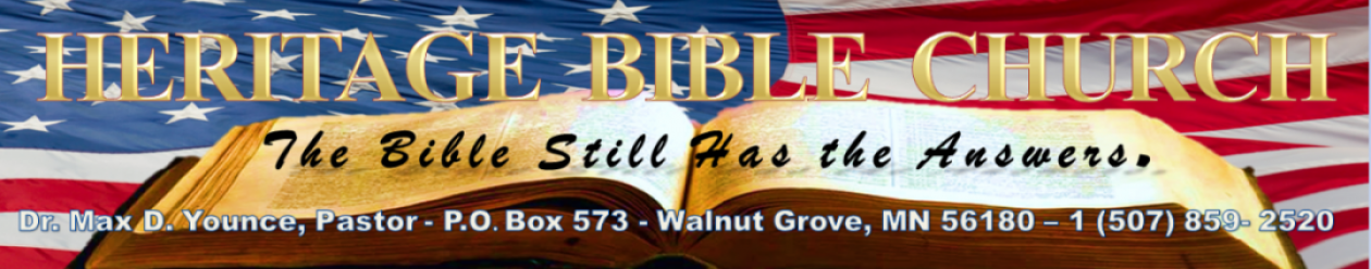 Bible Questions and Answers – Heritage Baptist Bible Church